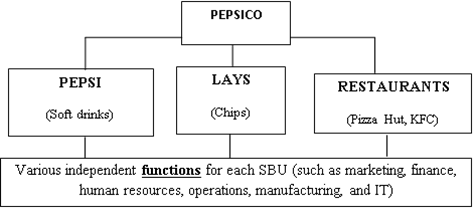 old version of pepsi co structure