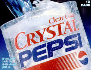 Crystal Pepsi packaging